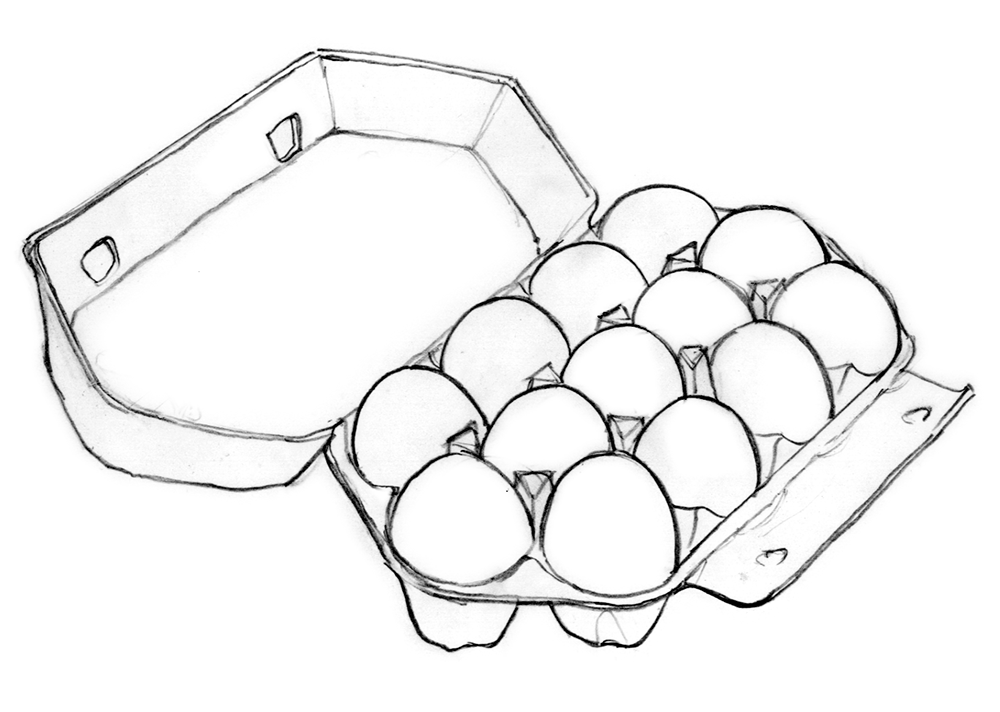 Eggs clipart outline. Egg drawing at getdrawings