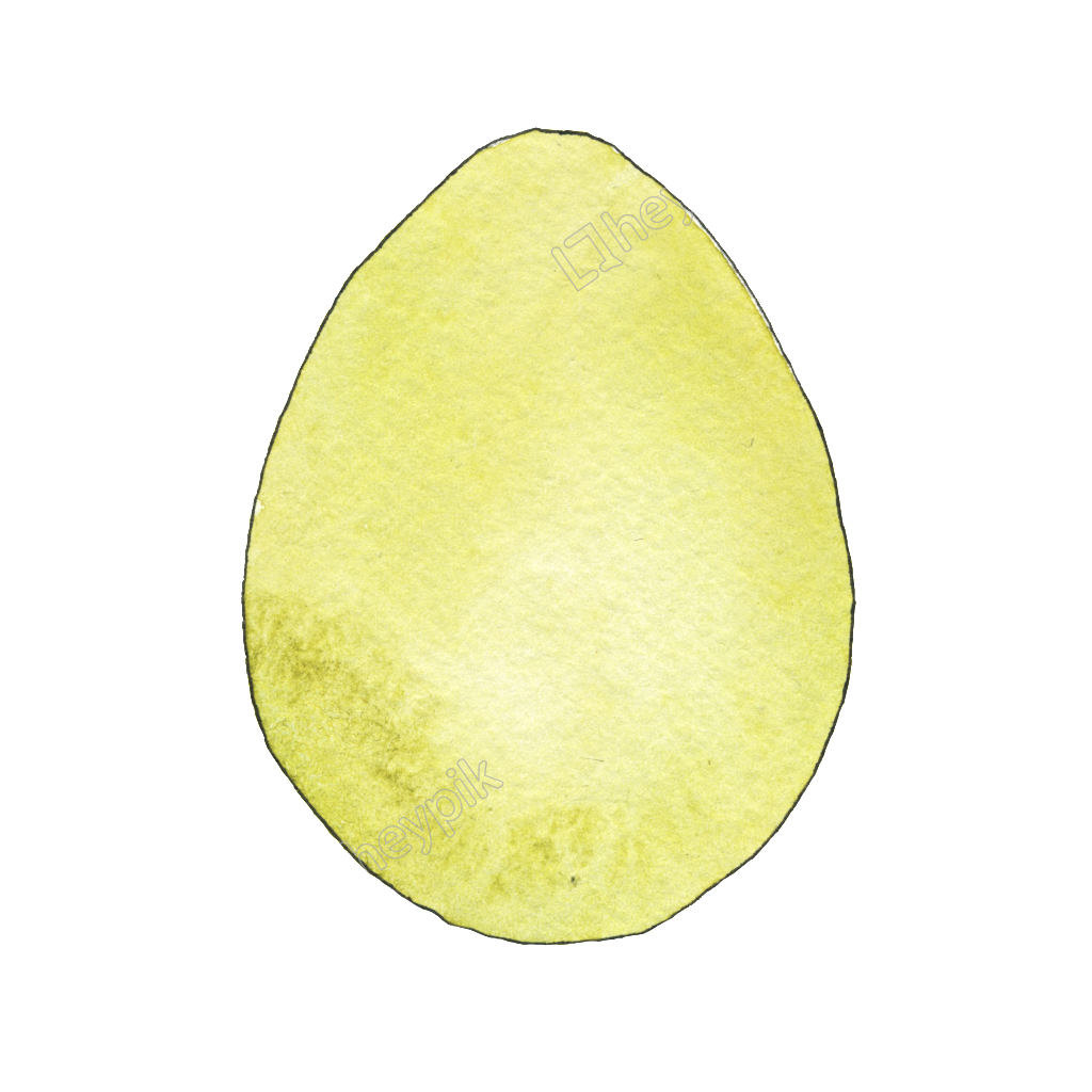 Eggs vector decorative. Yellow hand painted egg