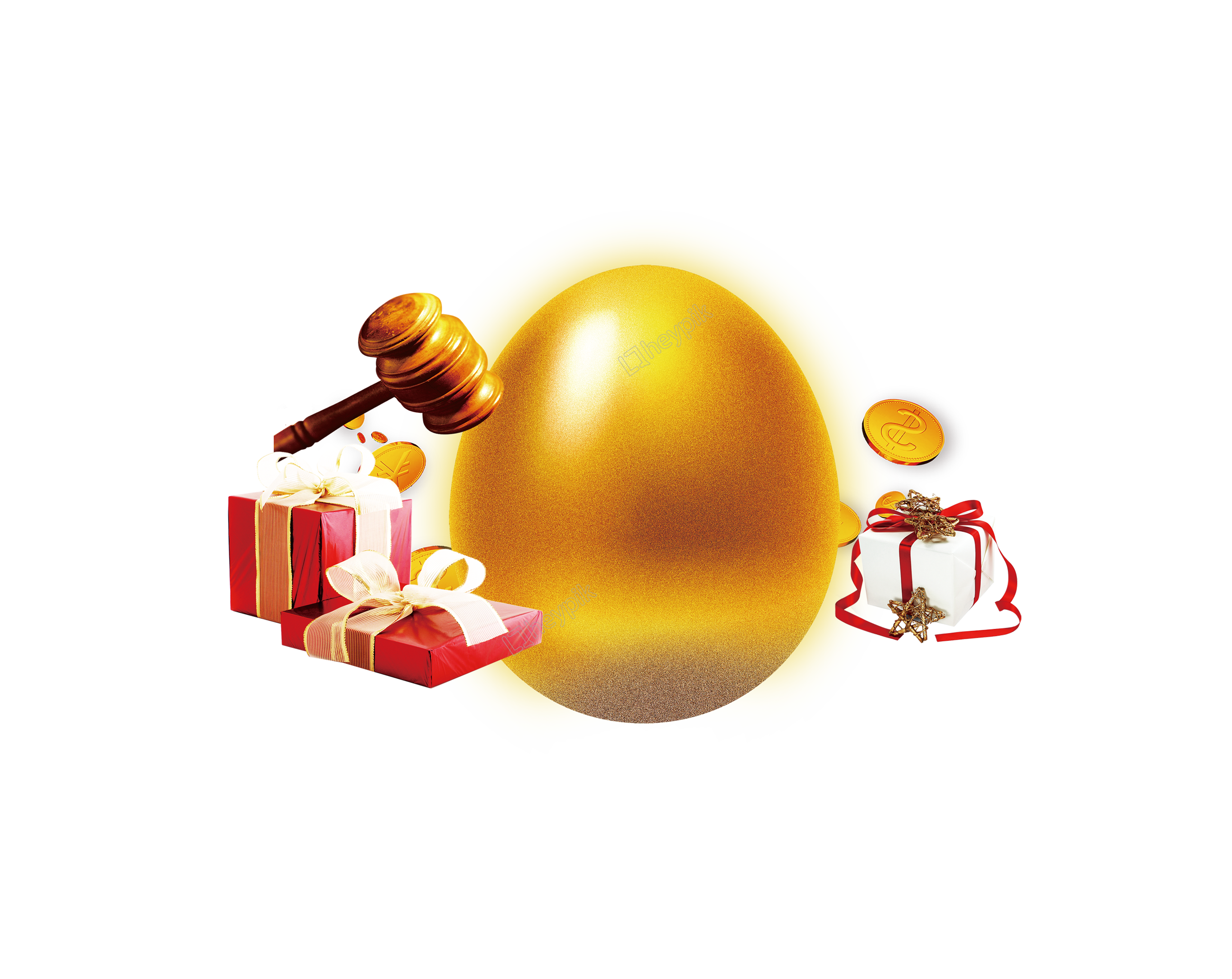 Eggs vector golden. Png for decorating free