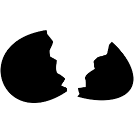 Eggs vector silhouette. Egg at getdrawings com