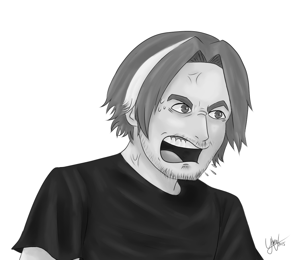 Egoraptor drawing chins. Angry arin by yara