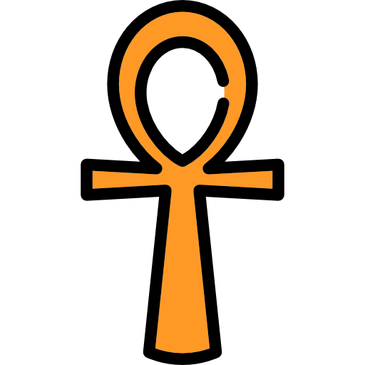 Egyptian symbol cross icon. Ankh transparent graphic freeuse library