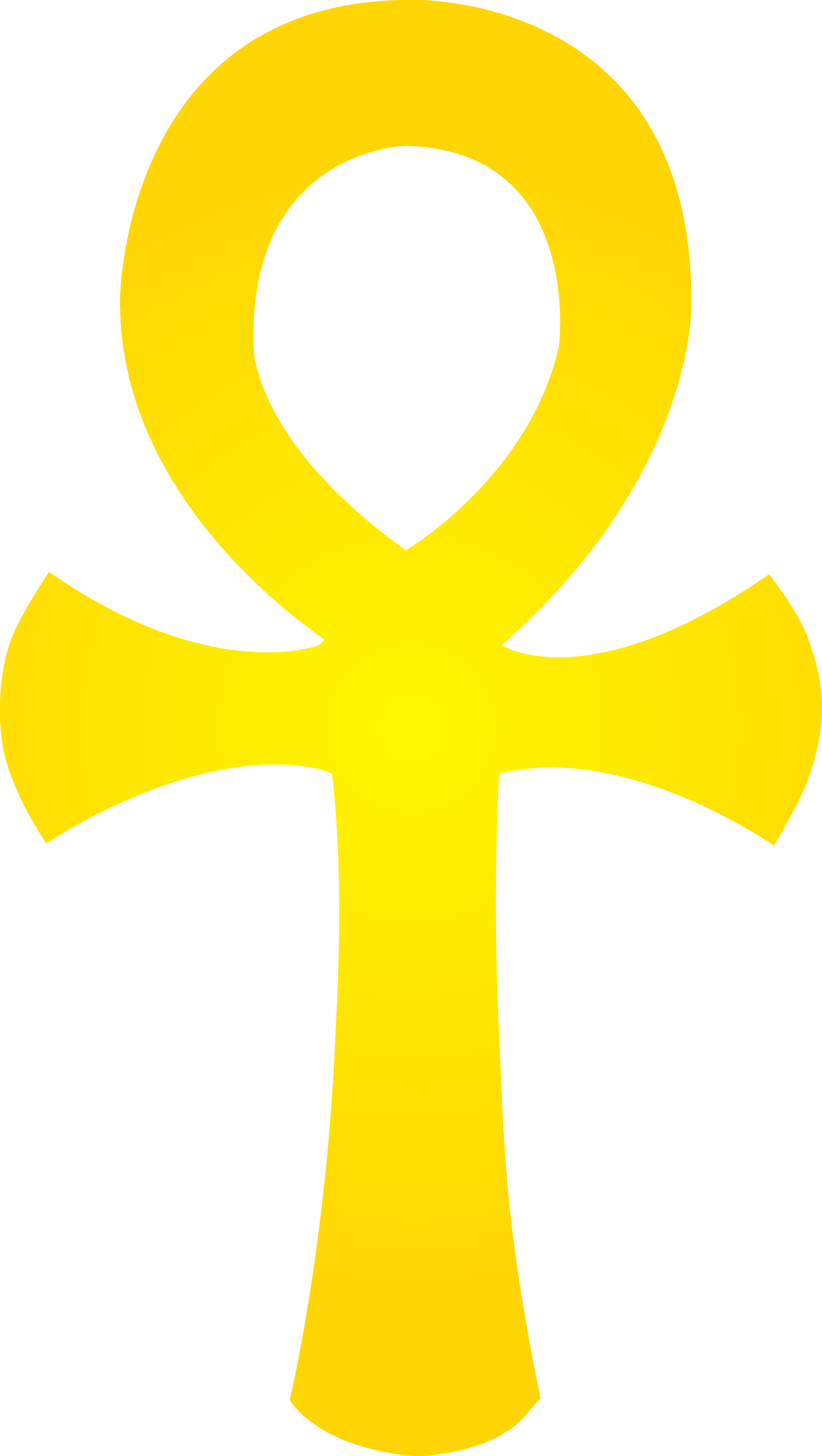 Egyptian ankh png. Golden symbol free clip