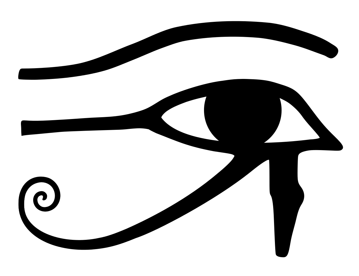Eye of horus wikipedia. Isis drawing egyptian sphinx png black and white stock