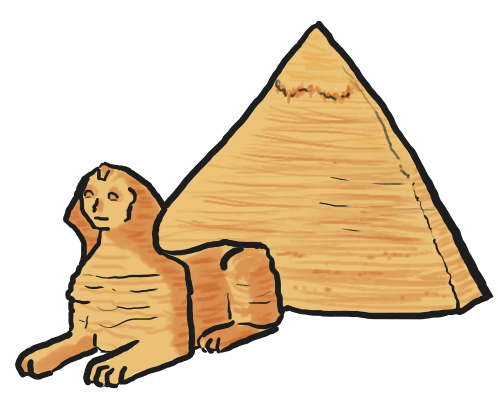 Egyptian clip art library. Pyramids clipart transparent library