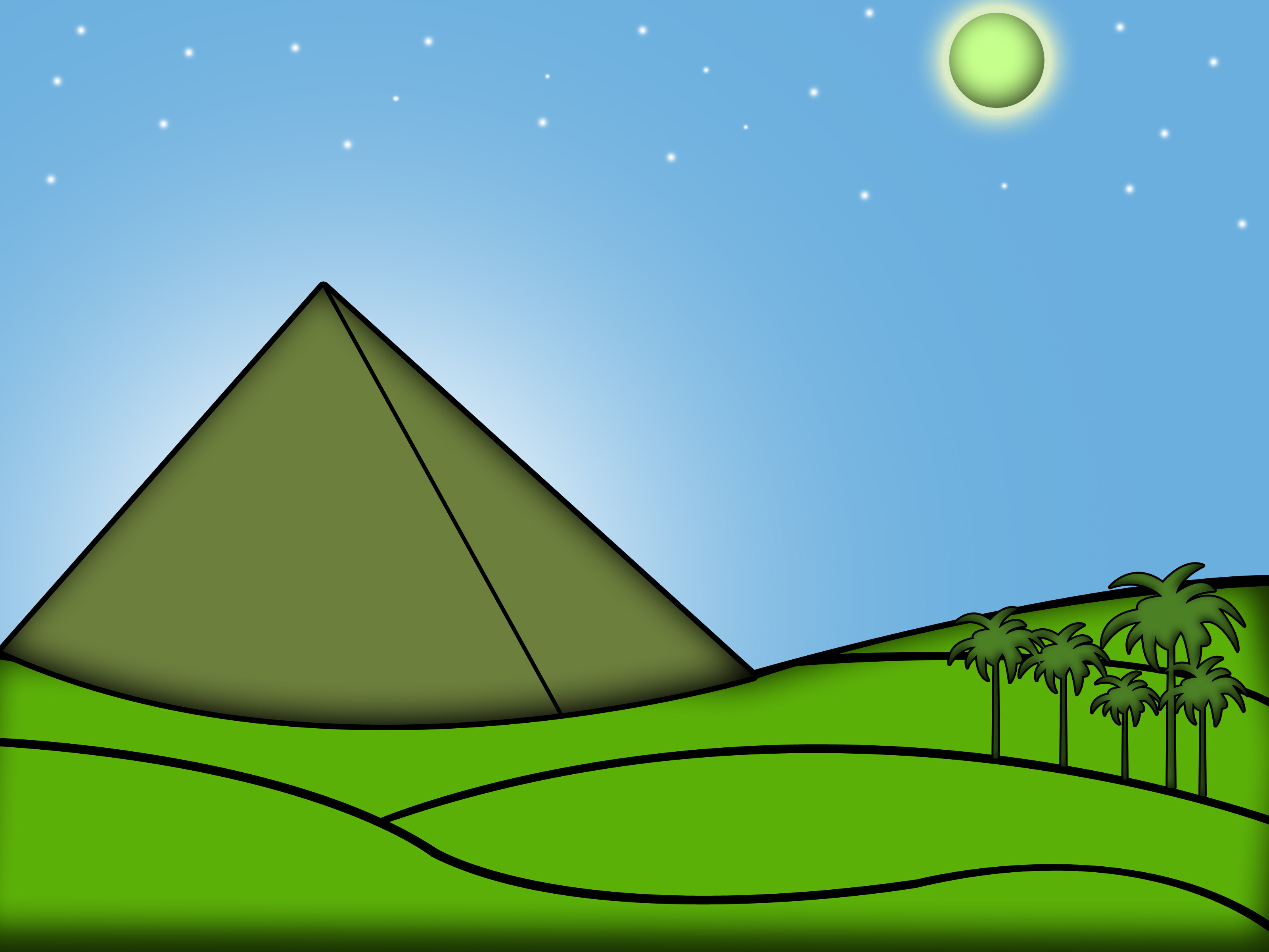 Egyptian clipart triangle pyramid. How to draw the