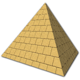 Transparent pyramid yellow. Png images all