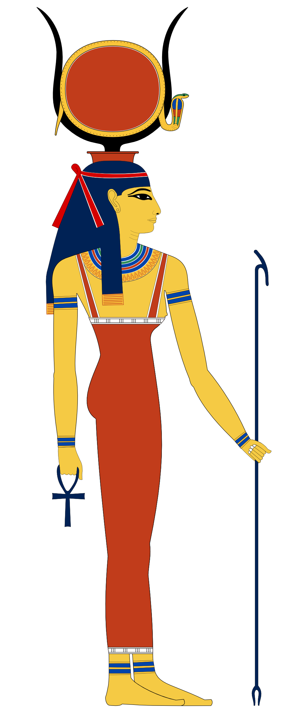 Isis drawing goddess. Hathor egypt svg k