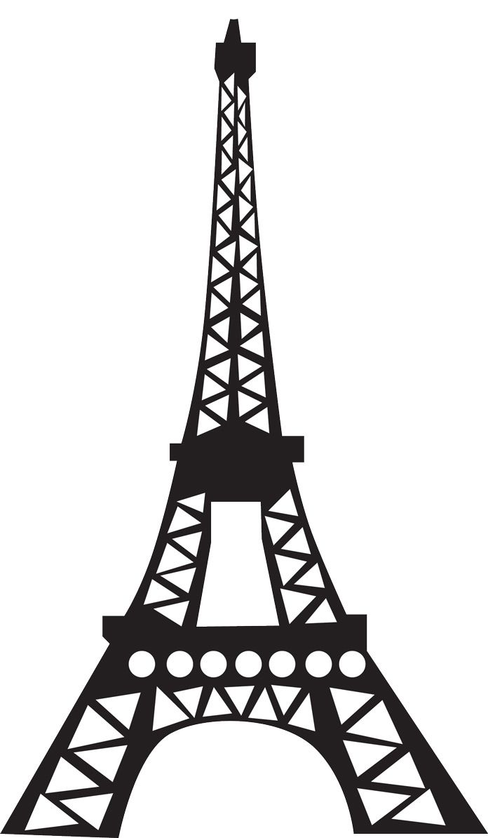 Eiffel clipart sillouette. Tower silhouette for d