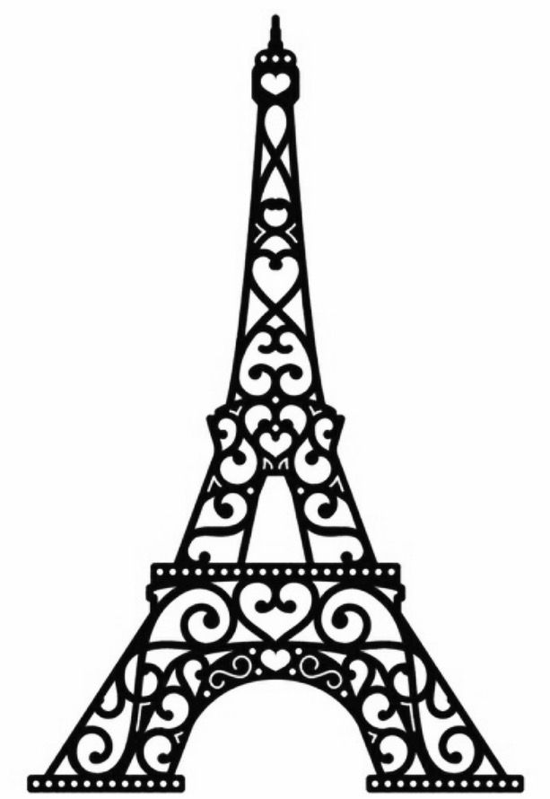 Tower black silhouette at. Eiffel clipart sillouette freeuse download