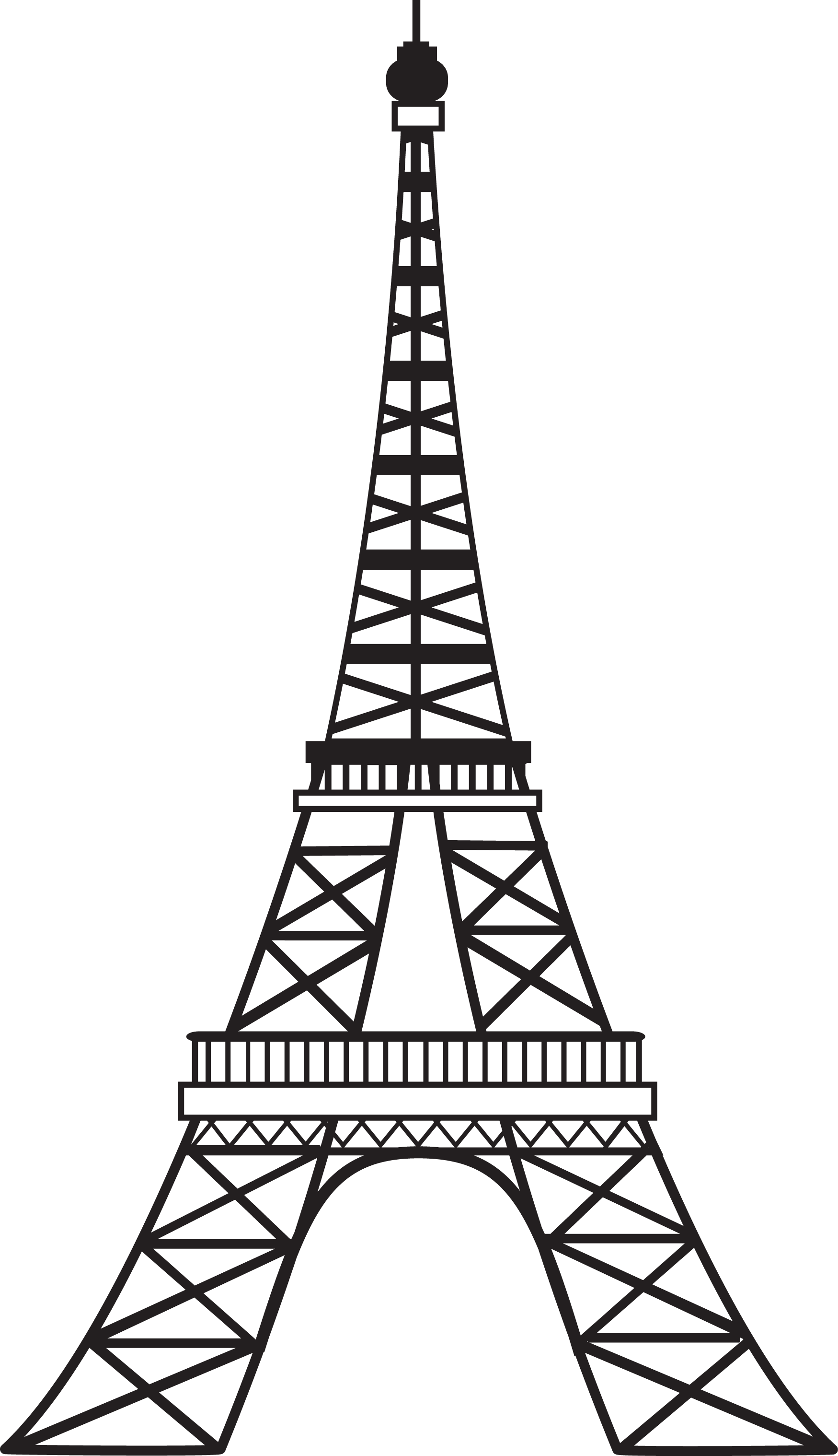 Eiffel clipart sillouette. Collection of tower