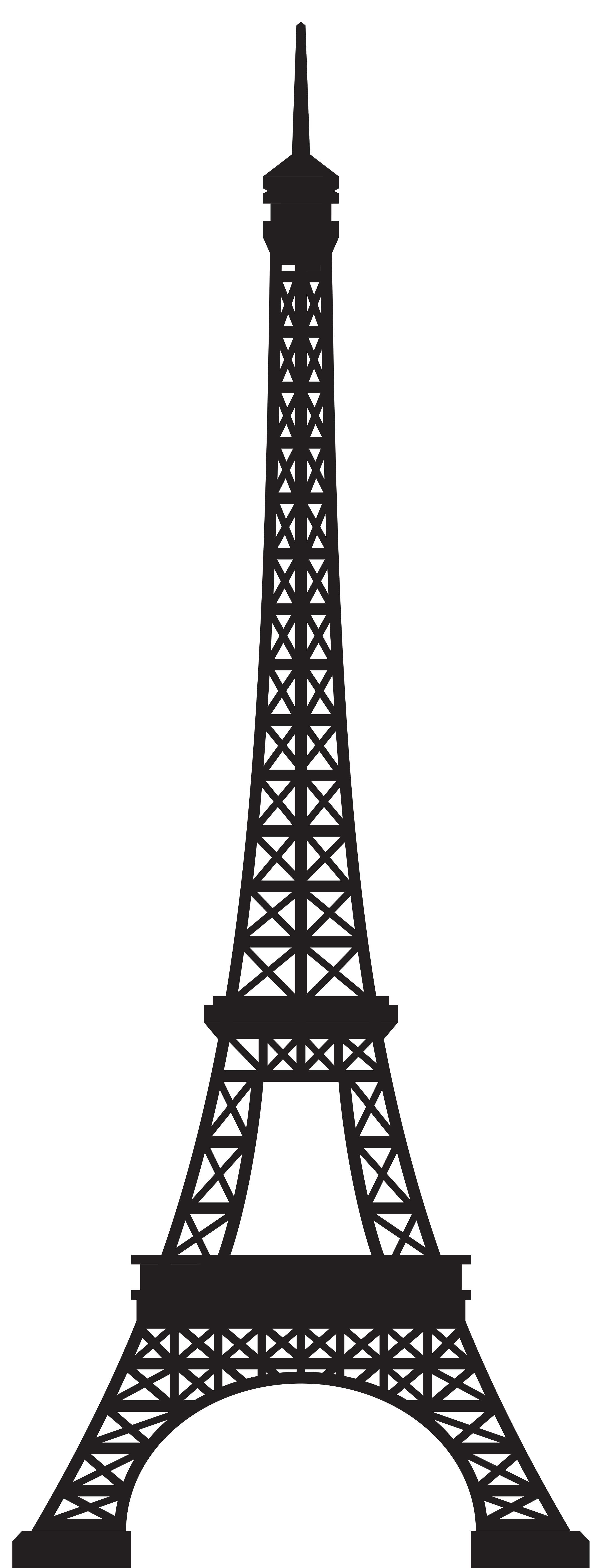 Eiffel tower silhouette png. Clip art image gallery