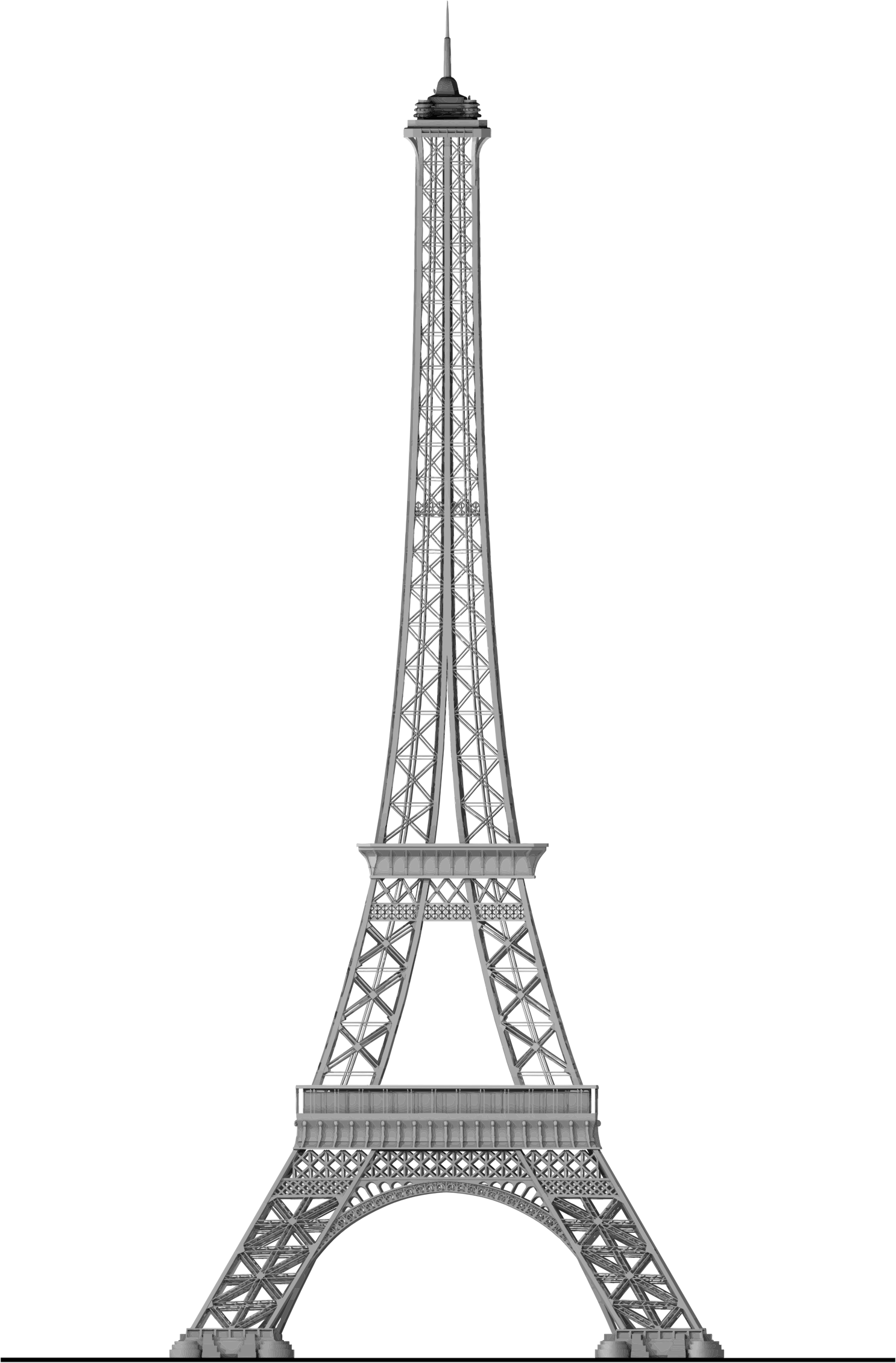 Eiffel tower silhouette png. Detailed trace icons free