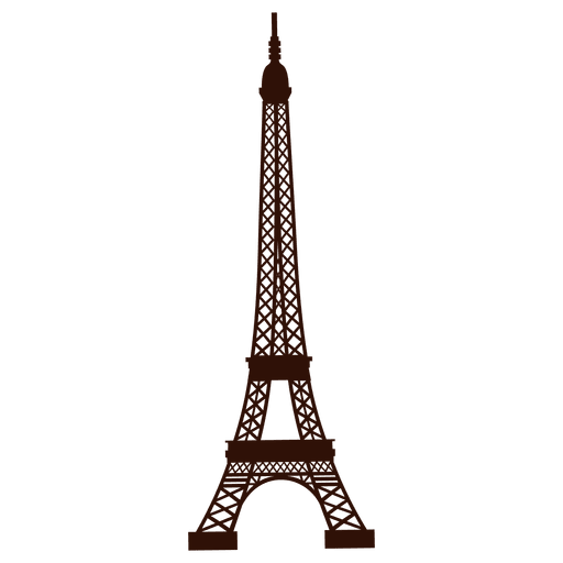 Eiffel tower vector png. Hand drawn transparent svg