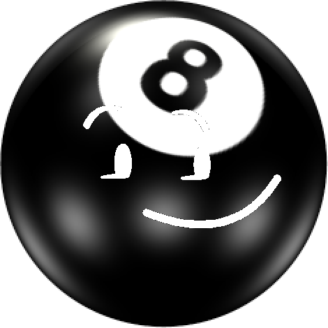 Eight ball png. Image pose object shows