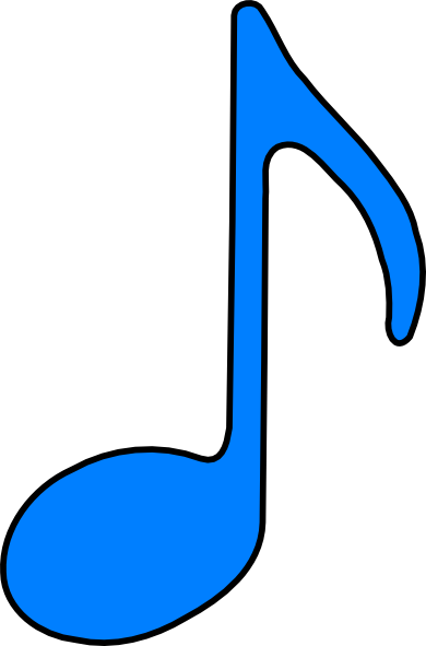 Music note clipart blue. Free eighth picture download