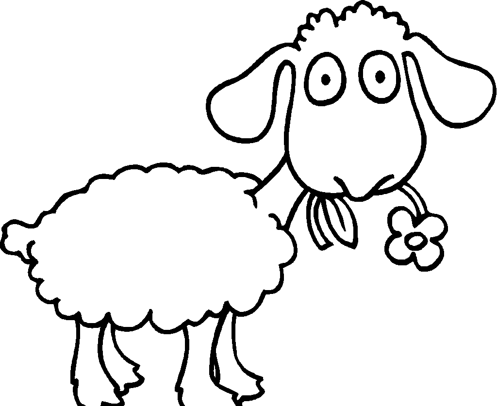 Drawing sheep fat. Free drawings for kids