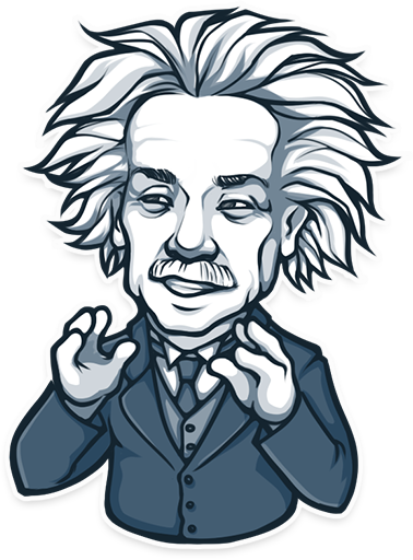 Einstein vector. When stickers meet art