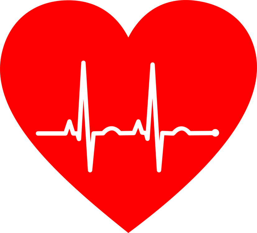 Electrocardiography rate cardiovascular disease. Heart clipart pulse black and white stock
