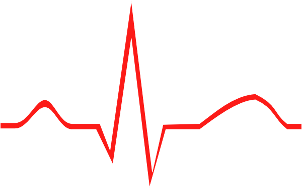 Tracing clipart . Ekg drawing unlabeled jpg black and white