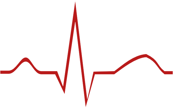 Ekg clip art vector. Heartbeat wave png graphic transparent stock