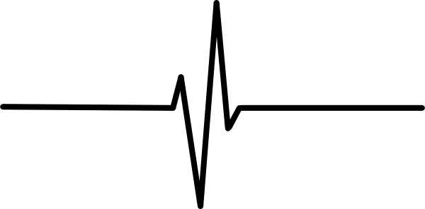 Heartbeat line clipart black and white png. Pulse group with items