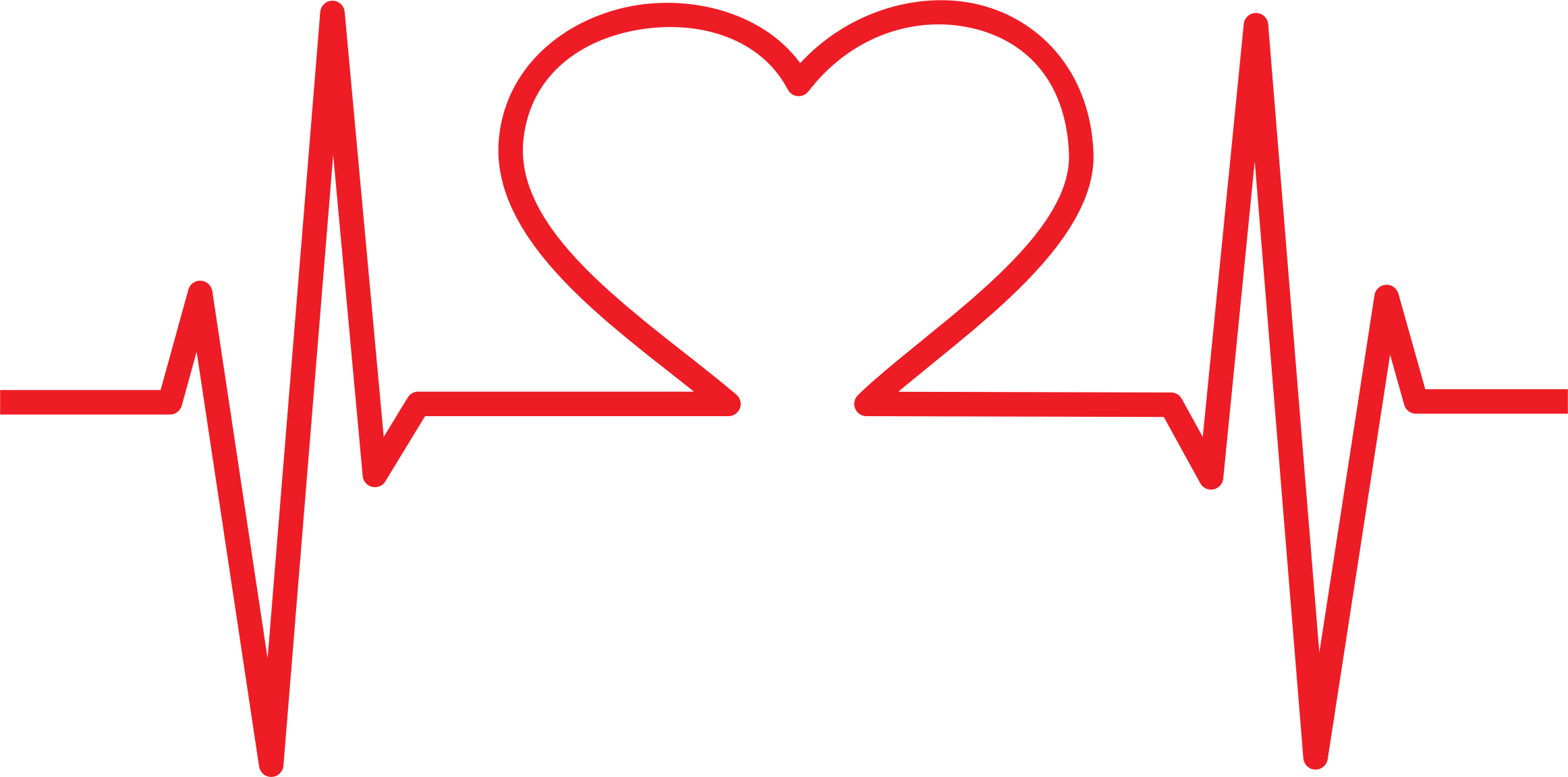 ekg svg heart shaped
