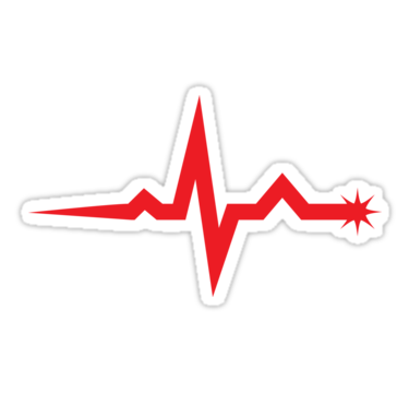 Ekg clipart wave. Sticker featuring a single