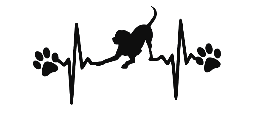 Ekg drawing pencil. Dog labrador retriever decal