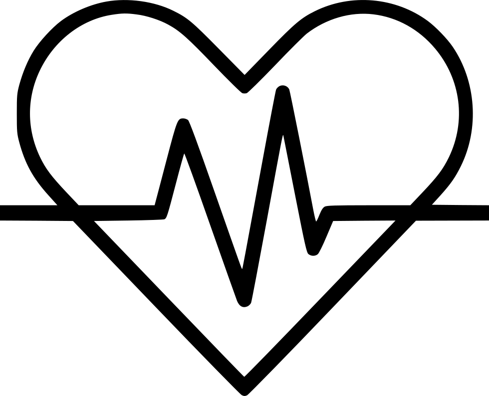 Ekg svg black and white. Heart signal electrocardiography png