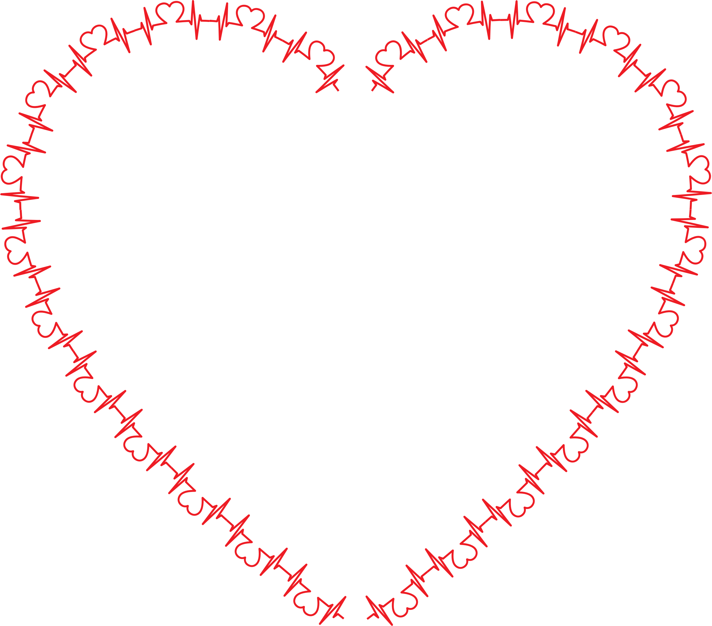Ekg svg heart shaped. Rhythm icons png free
