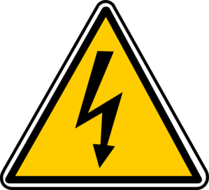 Vector power electric line. Warning electricity clip art
