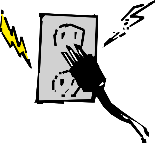 Electric clipart cartoon. Electrical outlet and plug