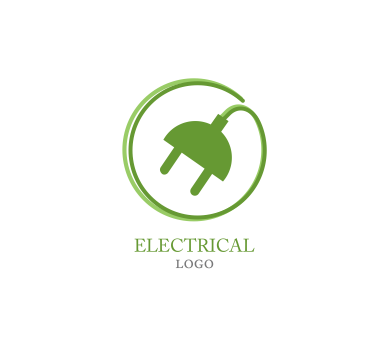 Electrician vector electrical symbol. Ideas logo png images