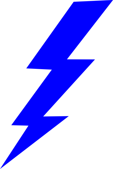 Lightning clipart lightning flash. Blue bolt panda free