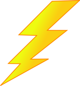 Lightning clipart bold. Bolt at getdrawings com