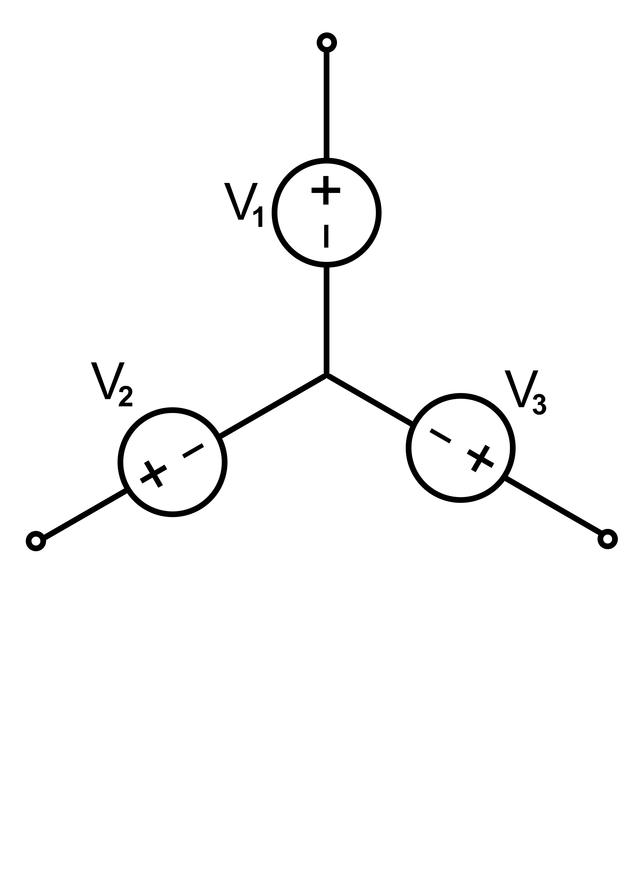 Electric clipart power source. A three phase connected