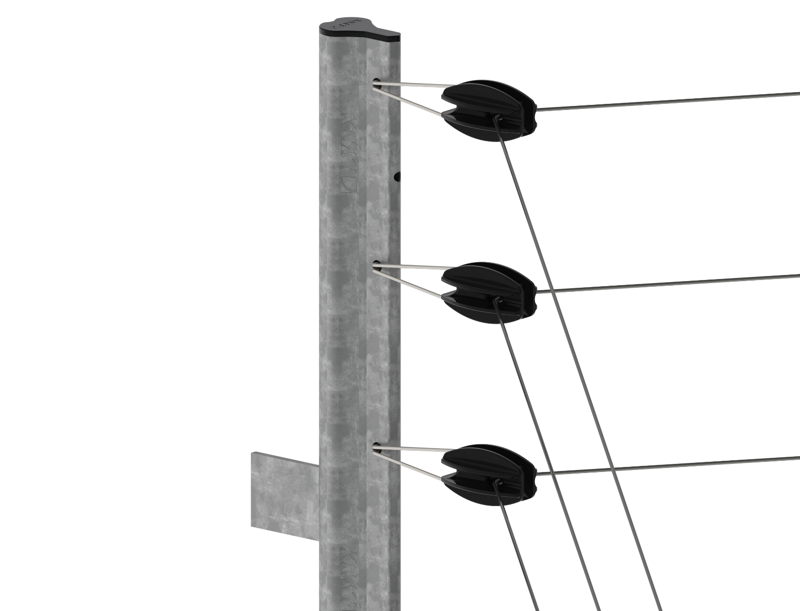 Electric fence png. Strainer post