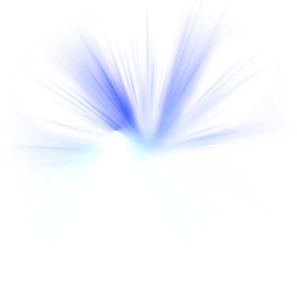 Electric spark png. Blue white shiny psd