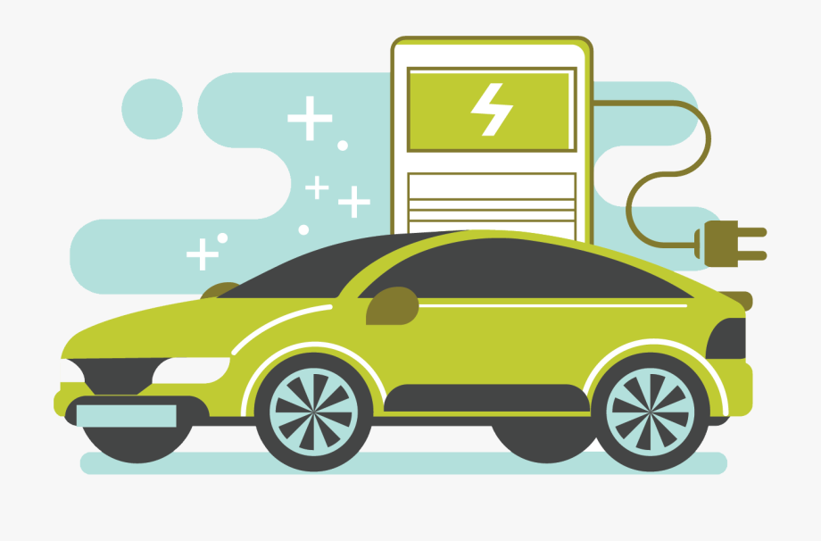 Electric vehicle. Car png vector free