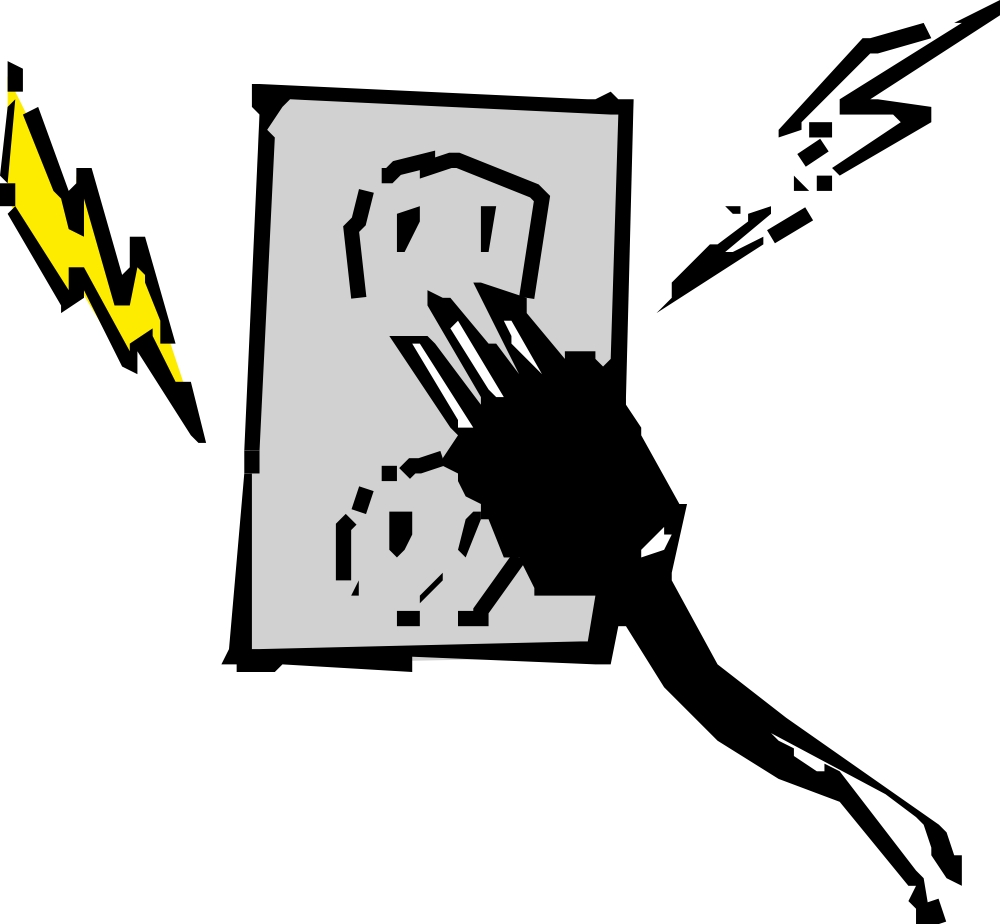 Static vector aged. New electricity clipart