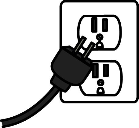 Electrical clipart black and white. Electricity clip art images