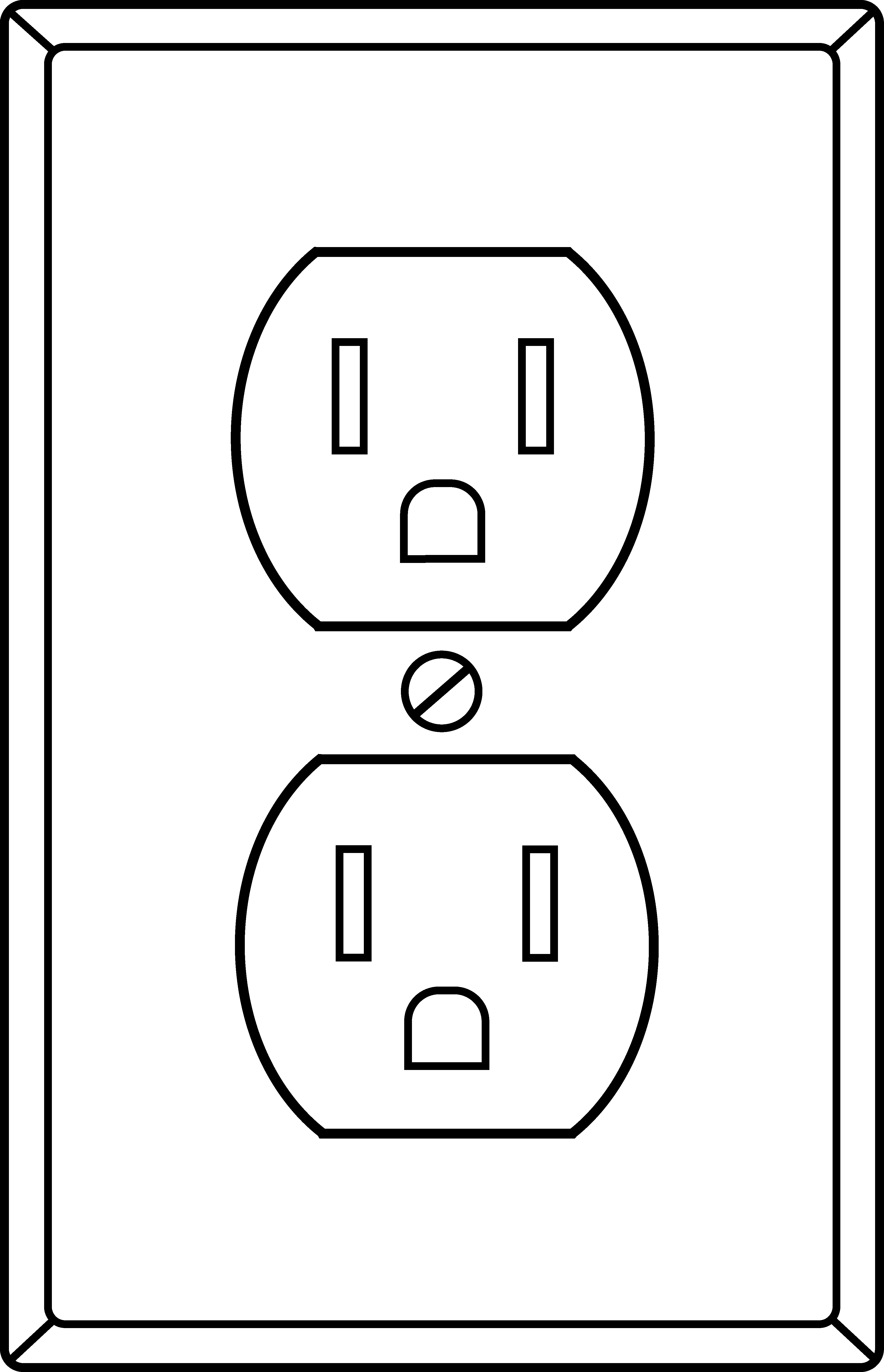 Electrical clipart black and white. Image of symbols clip