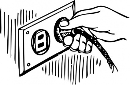 Electrical clipart black and white. Electricity kind of letters
