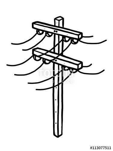 electrical clipart electric post