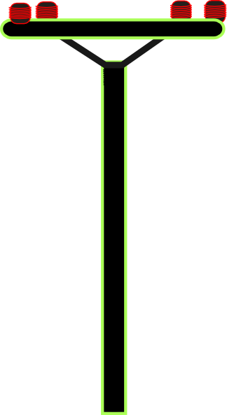 Pole vector clipart. Telephone clip art at image freeuse stock
