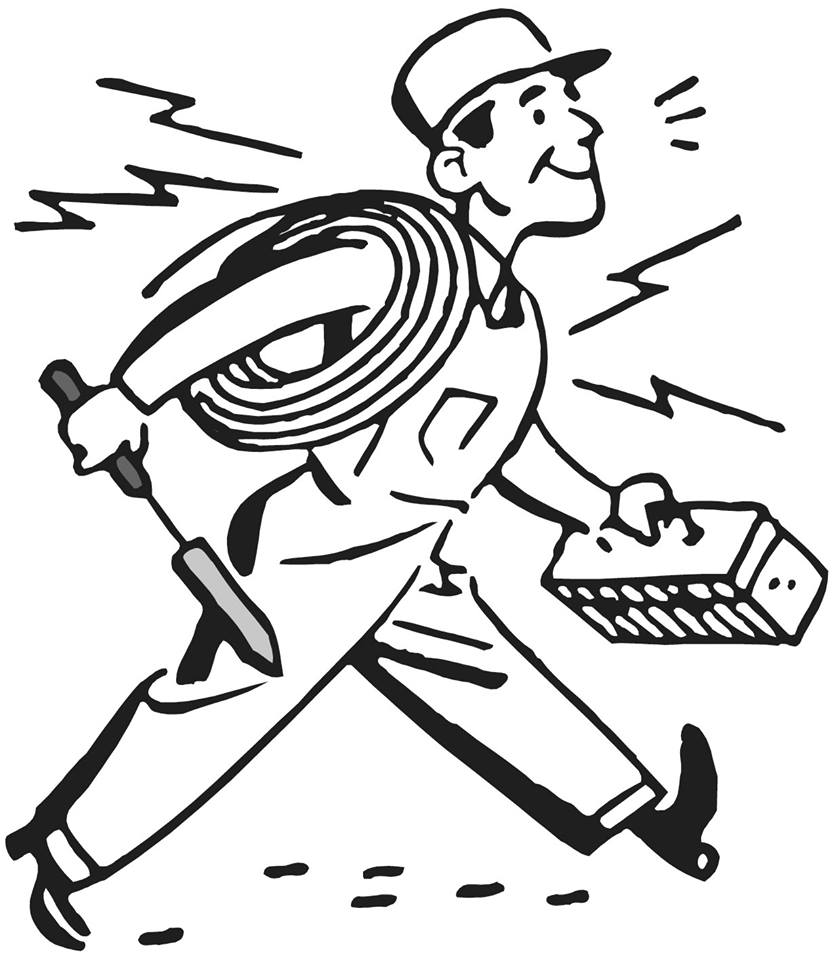 Electrical clipart electrical service. Electrician drawing at getdrawings