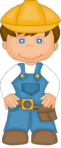 Electrician clipart community helper. Boys constructor construction workers