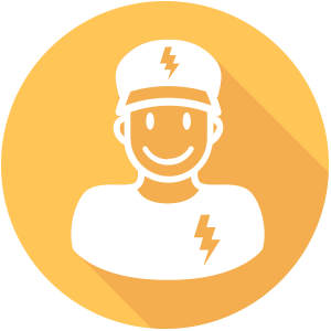 Electrician vector art. Free icon download electricians