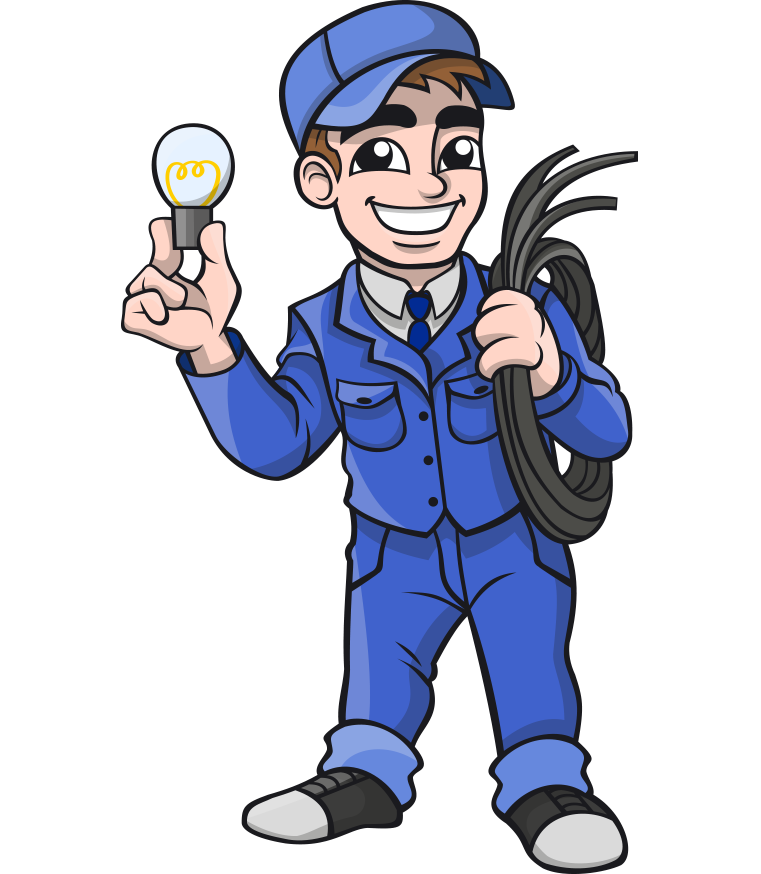 Electrician vector. Electricity free content clip